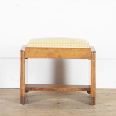 Art Deco Burr Walnut Stool ST8513835