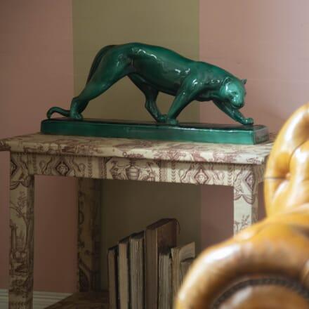 Art Deco Ceramic Panther by Rochard DA8715378