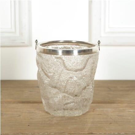 Art Deco Glass 'Iceberg' Ice Bucket TC589629