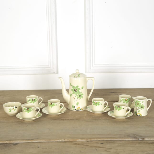 Art Deco Green Flower Coffee Set DA589619