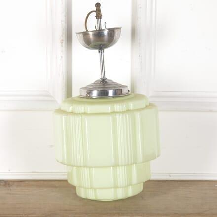 Art Deco Green Opaline Glass Ceiling Light LC2859602