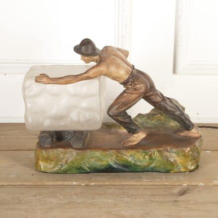 Art Deco Plaster Figure Lamp LT8715851