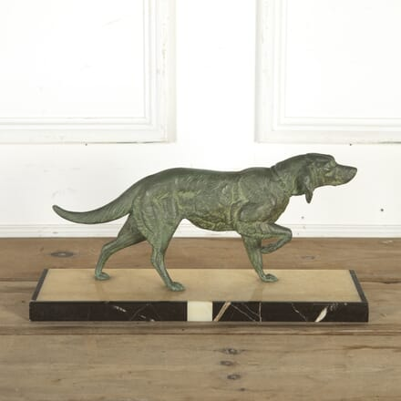 Art Deco Spelter Dog by M. Leduc DA8514580