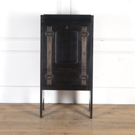 Arts & Crafts Ebonised Oak Bureau by Leonard Wyburd for Liberty DB5714249