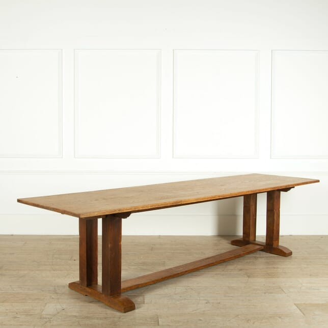 Arts and Crafts Large Oak Refectory Table TD059109