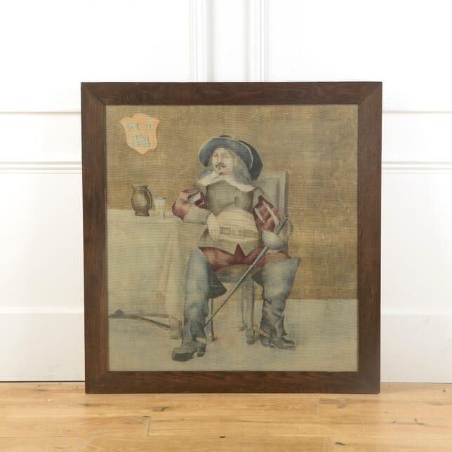 Arts & Crafts Oak Framed Picture of Cavalier WD519292