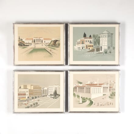 Lithographs of Athenian Street Scenes WD7614335