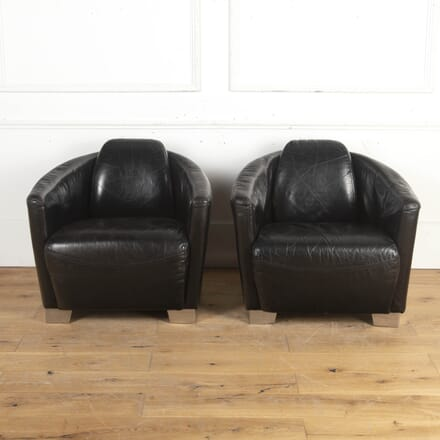 Pair of Leather Aviator Club Chairs CH8716252