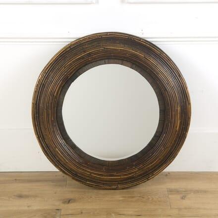 Bamboo Framed Circular Mirror MI4310207