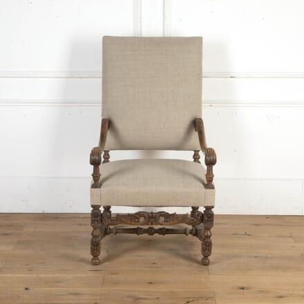 French Walnut Louis XIV Style Armchair CH8716243