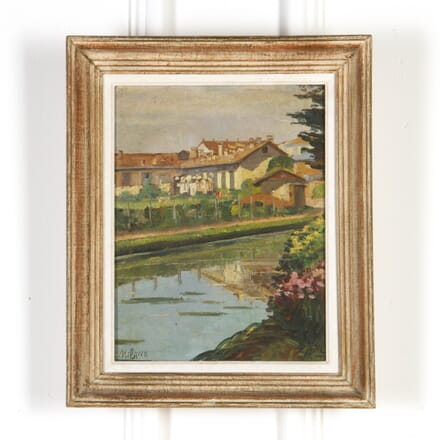 Mid Century French Oil Landscape WD5917226