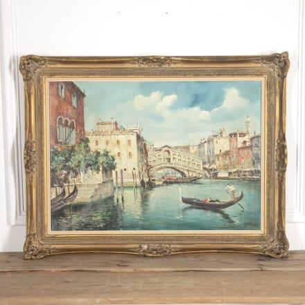Benedetti Oil on Canvas of Venice WD8815086