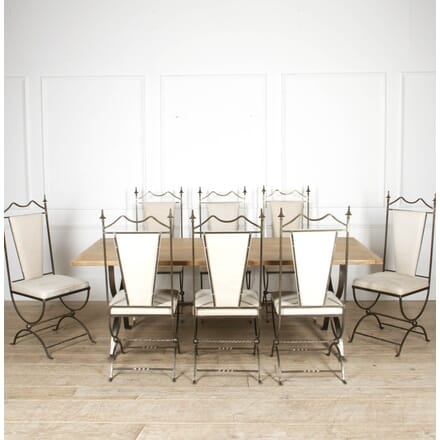 Bespoke Bleached Oak Dining Table and Chair Collection TD8817377