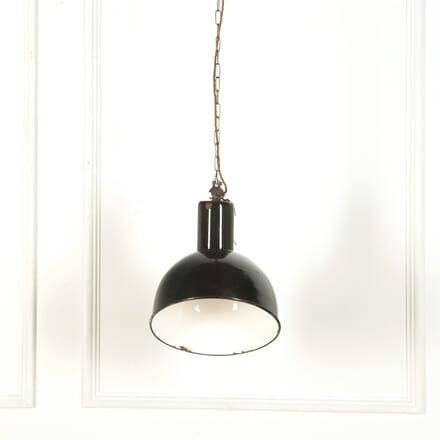 Black Enamelled Industrial Ceiling Light LC579124