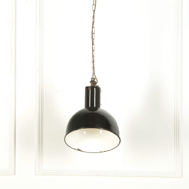 Black Enamelled Industrial Ceiling Light LC579124