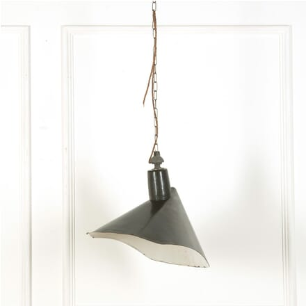 Black Enamelled Industrial Ceiling Light LC579125