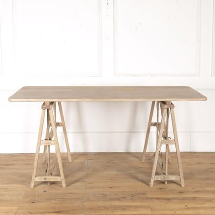 Bleached Oak and Teak Architecture Table TC3615144