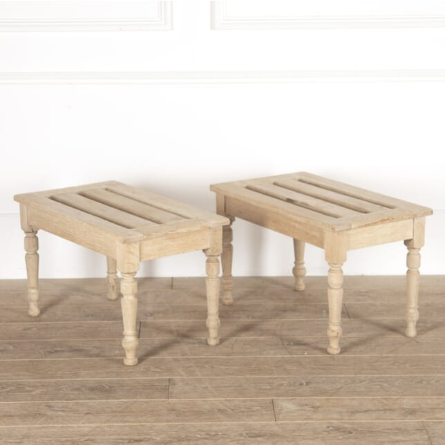 Pair of Bleached Oak Luggage Stands ST4514282