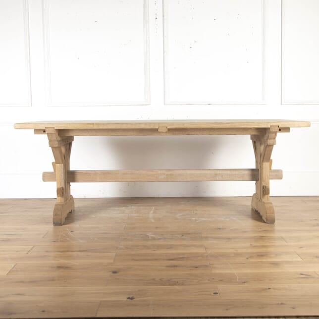 Bleached Solid Oak Trestle Table TD8715297