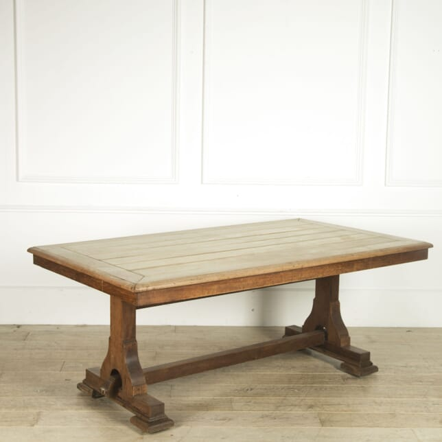 Bleached Walnut Refectory Table TD059420