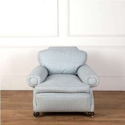 Blue and White Upholstered Howard Style Chair CH7311127