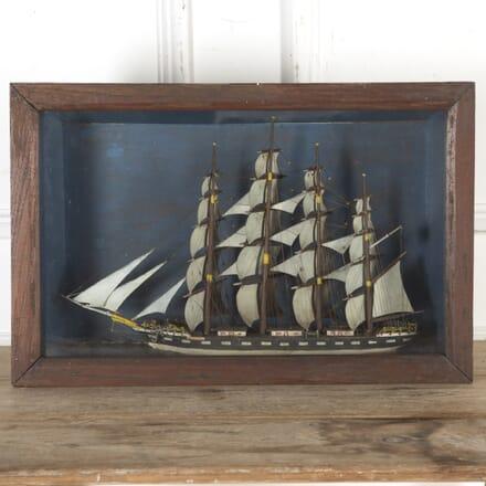 Victorian Diorama of Three Mast Clipper DA2016460