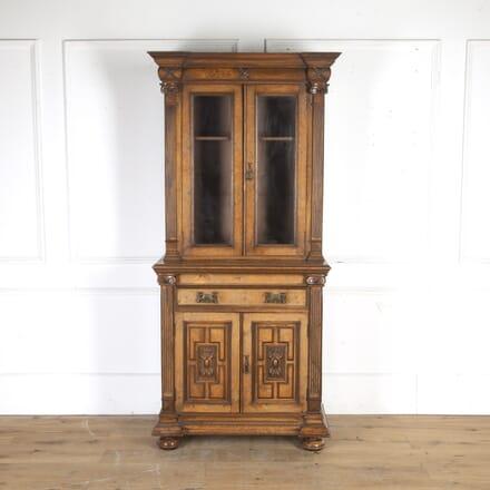 Victorian Pollard Oak Bookcase BK7914955