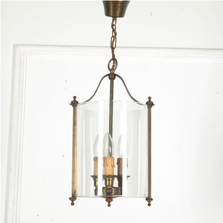 Brass and Glass Circular Lantern LL3611302
