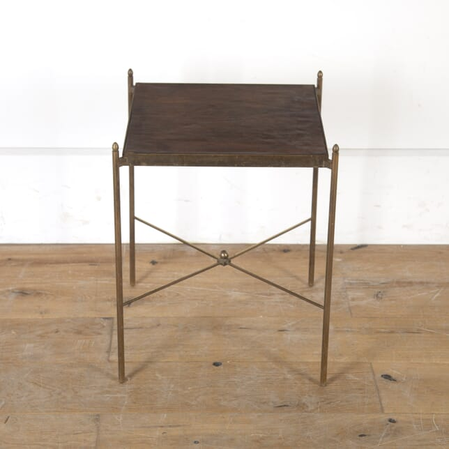 French Brass and Leather Occasional Table TC7915755