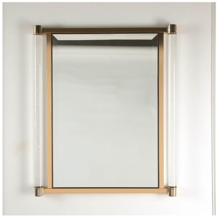 Brass and Lucite Mirror MI3011311