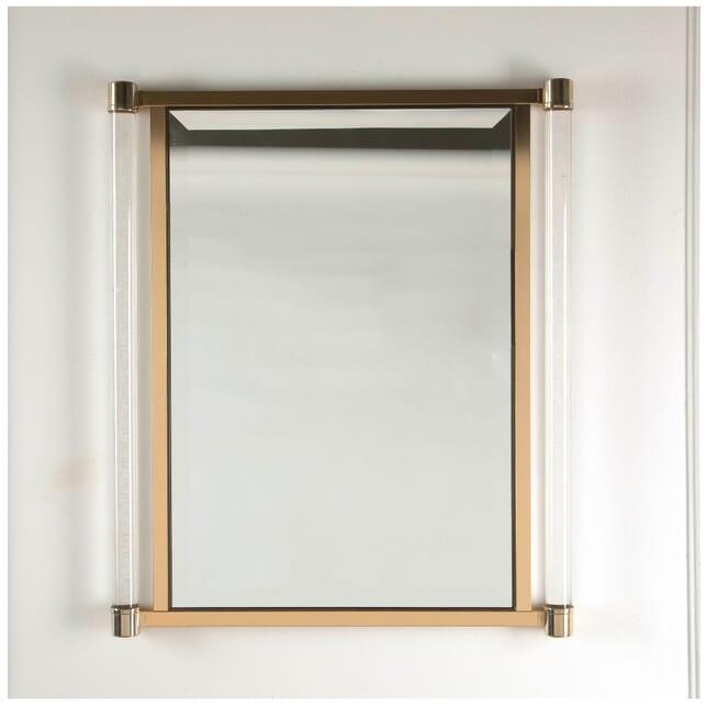 Brass and Lucite Mirror MI3011311