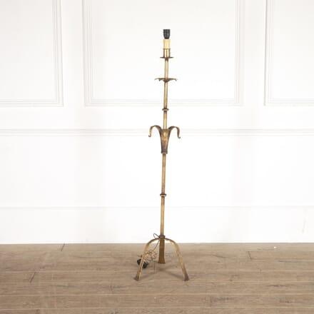 Spanish Gilt Iron Floor Lamp LF4514283