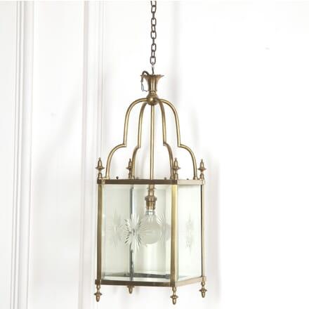 Mid Century Brass Hall Lantern LL4816579