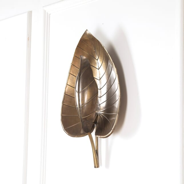 Brass Lotus Leaf Sconce GA3011300