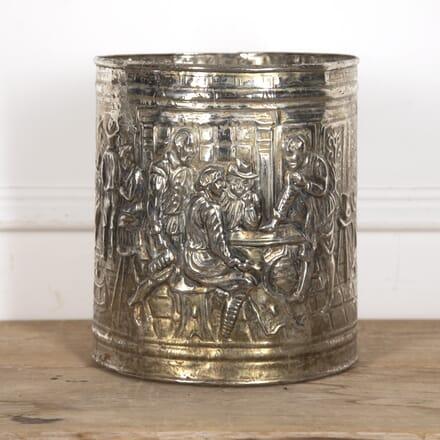Brass-Plated Tavern Scene Bucket DA9315926