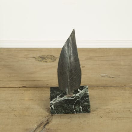 Bronze Leaf Mounted on a Marble Base DA299358