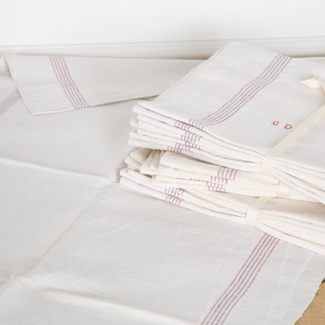 Bundle of Early 20th Century French Linen / Hemp Tea Towels DA449886