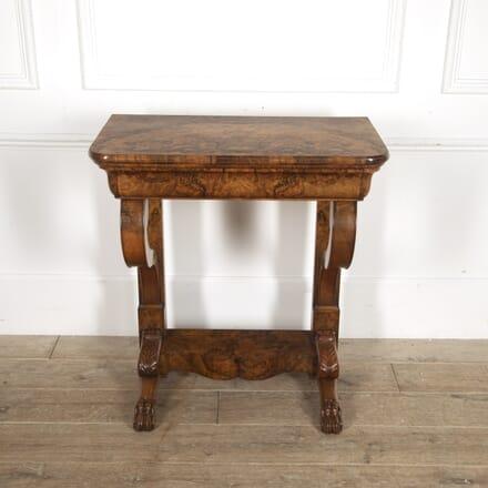 Burr Walnut Console Table CO5215629