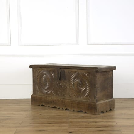 Carved Walnut Trunk DA409275
