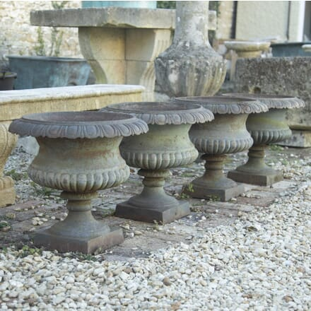 Four French Cast Iron Tazza Urns GA1914435