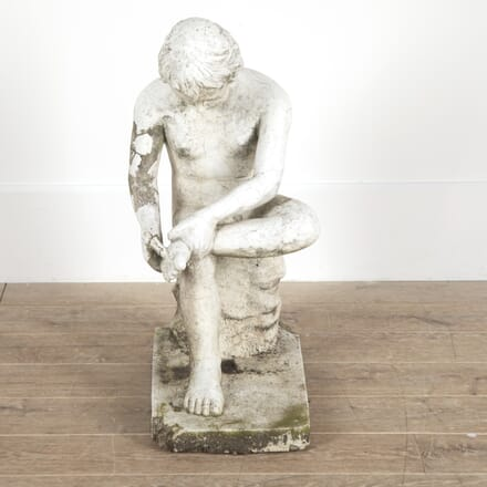 Cast Stone Statue of 'Boy with Thorn' GA4514154