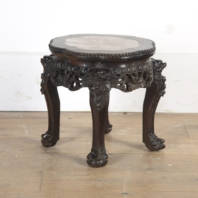 Chinese Hardwood and Marble Occasional Table TC5816524