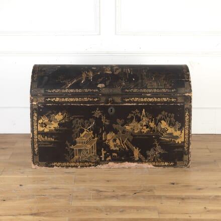 Chinese Export Black Lacquered Trunk CB8013798