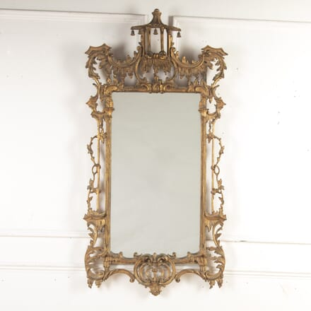 Chippendale Style Gilded Pagoda Mirror MI8213802