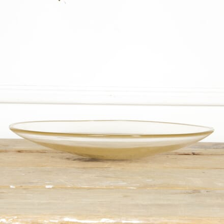Circular Murano Bowl with Gold Inclusions DA2917480
