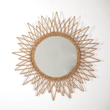 Circular Rattan Starburst Mirror MI2914851