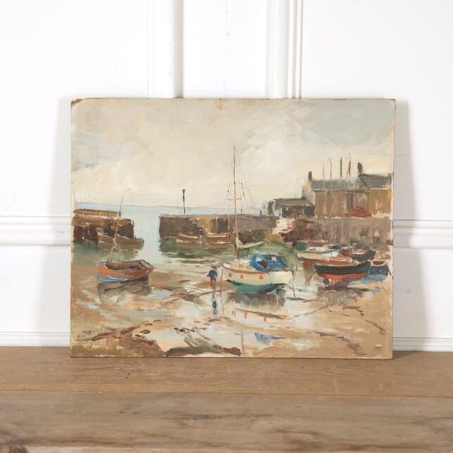 Cornish Harbour Painting WD9011249
