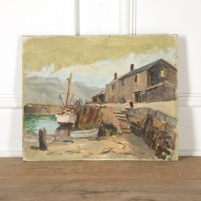 Cornish Harbour Painting WD9011250
