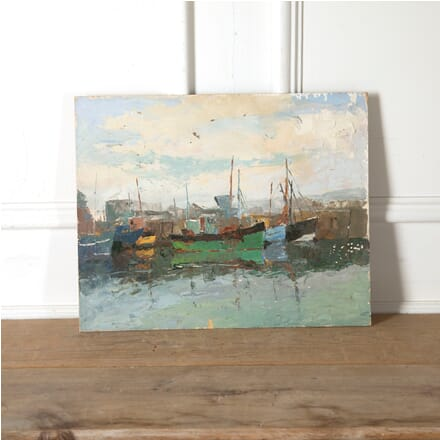 Cornish Harbour Painting WD9011252