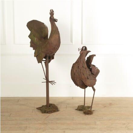 Cock and Hen Garden Ornaments GA1311464